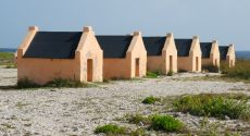 Slave huts near Salt Lake
